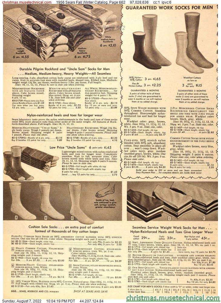 1956 Sears Fall Winter Catalog, Page 662