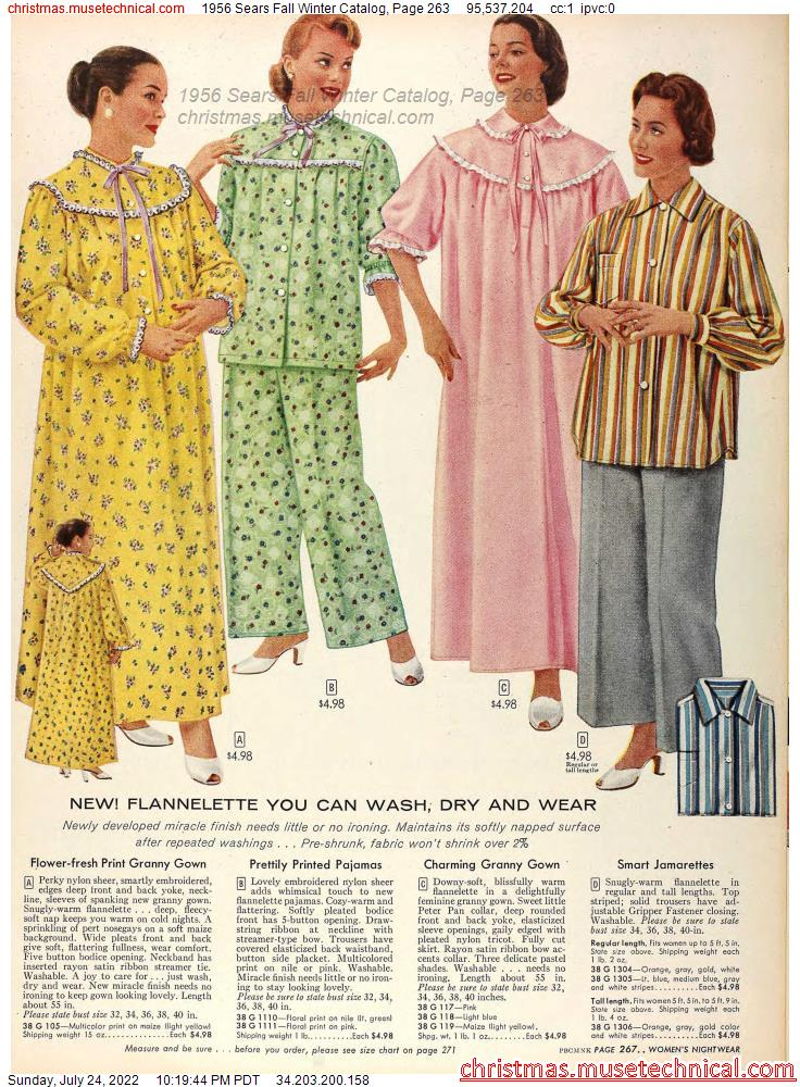 1956 Sears Fall Winter Catalog, Page 263