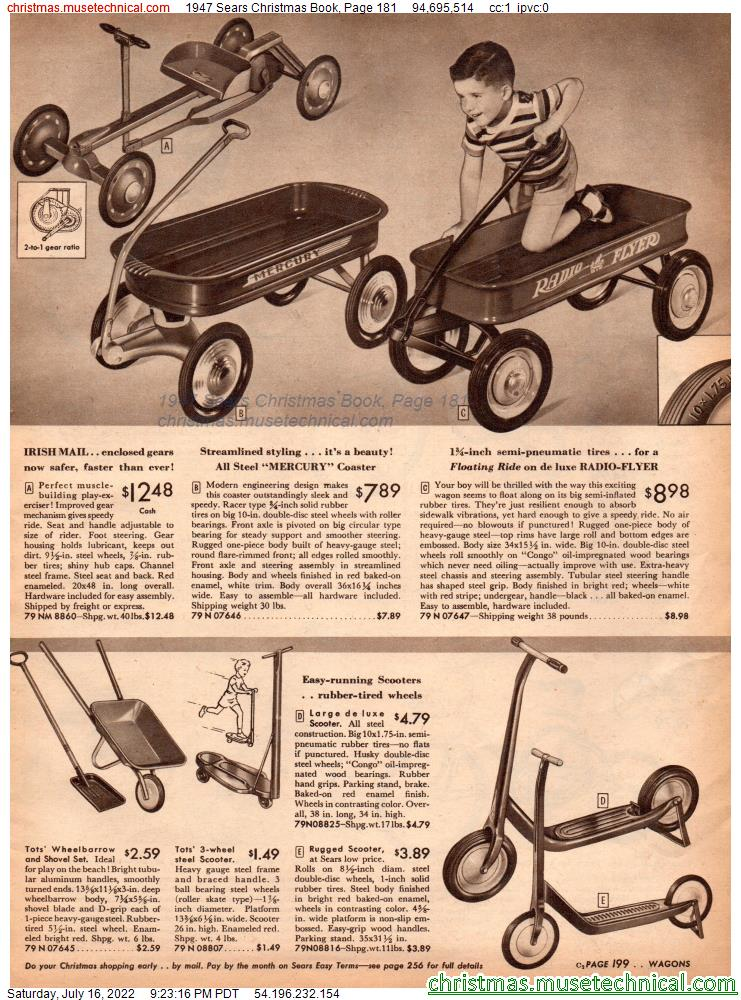 1947 Sears Christmas Book, Page 181