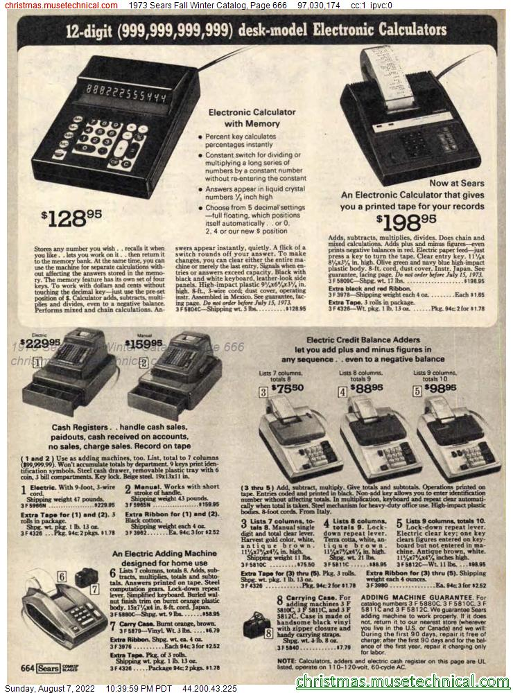1973 Sears Fall Winter Catalog, Page 666