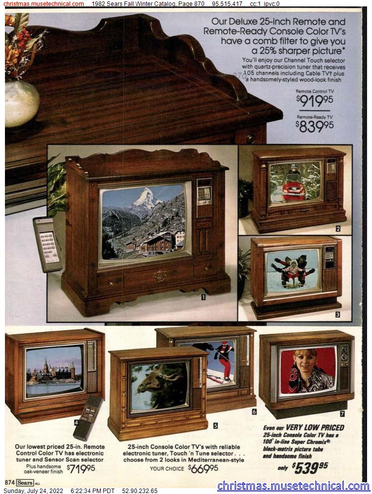 1982 Sears Fall Winter Catalog, Page 870