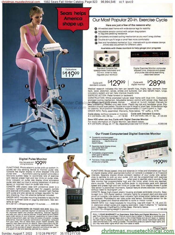 1982 Sears Fall Winter Catalog, Page 823