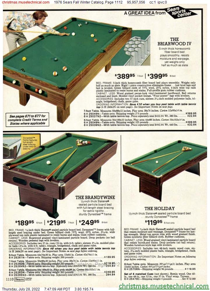 1976 Sears Fall Winter Catalog, Page 1112