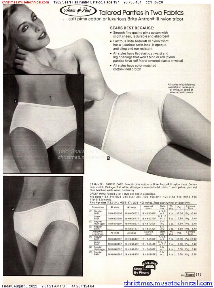 1982 Sears Fall Winter Catalog, Page 197
