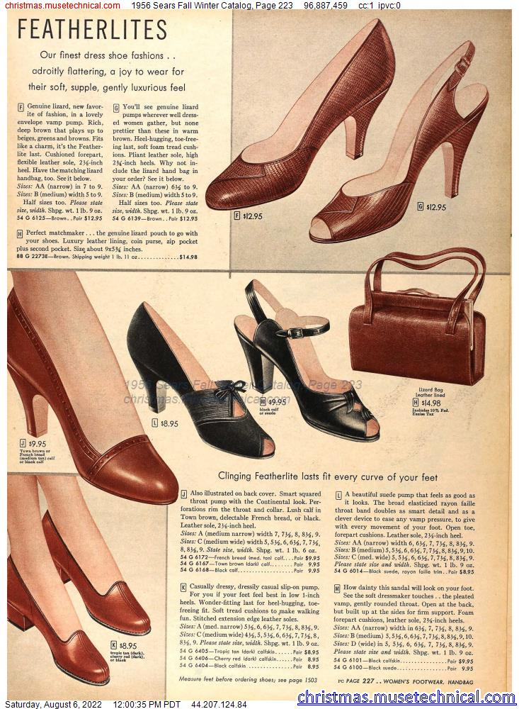 1956 Sears Fall Winter Catalog, Page 223