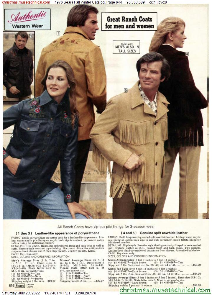 1976 Sears Fall Winter Catalog, Page 644