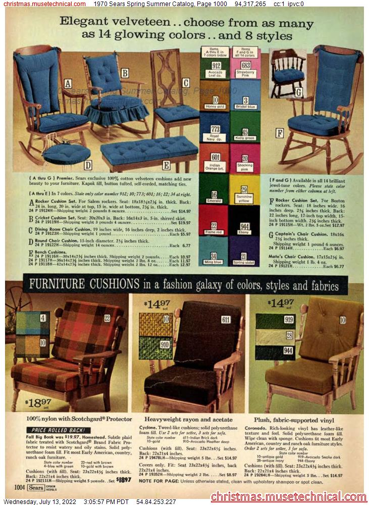 1970 Sears Spring Summer Catalog, Page 1000