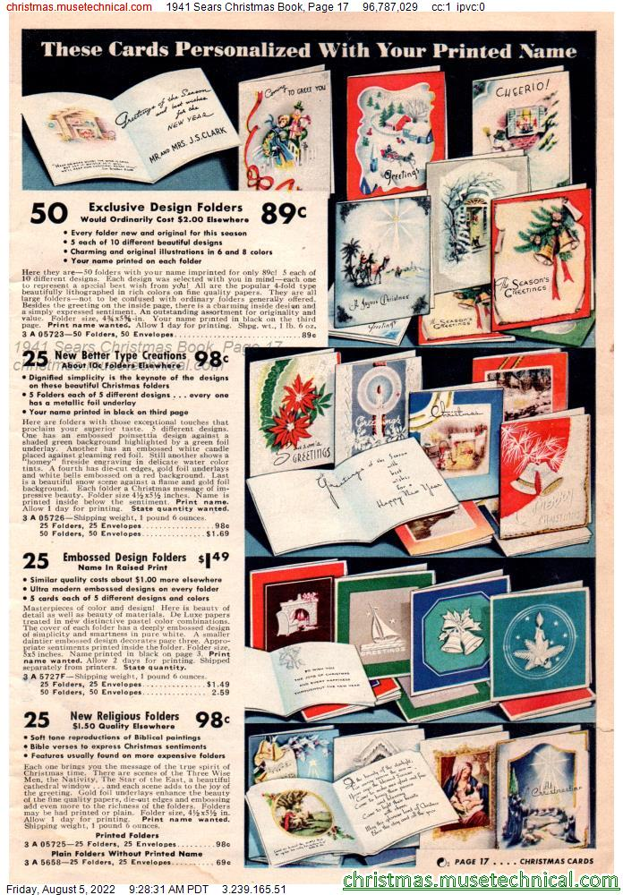 1941 Sears Christmas Book, Page 17