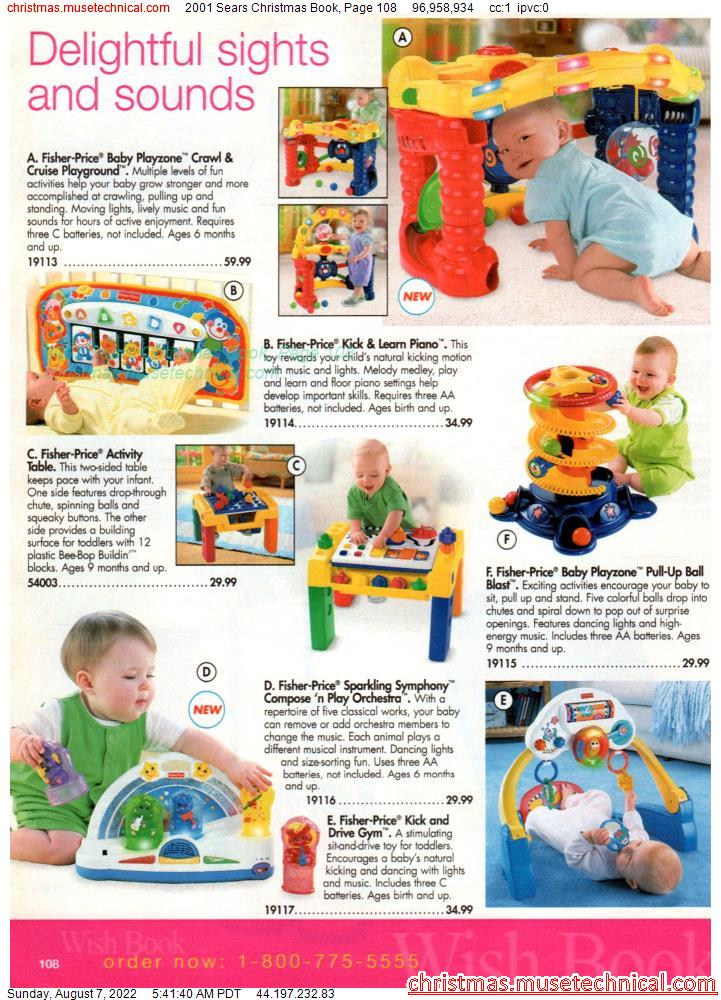 2001 Sears Christmas Book, Page 108