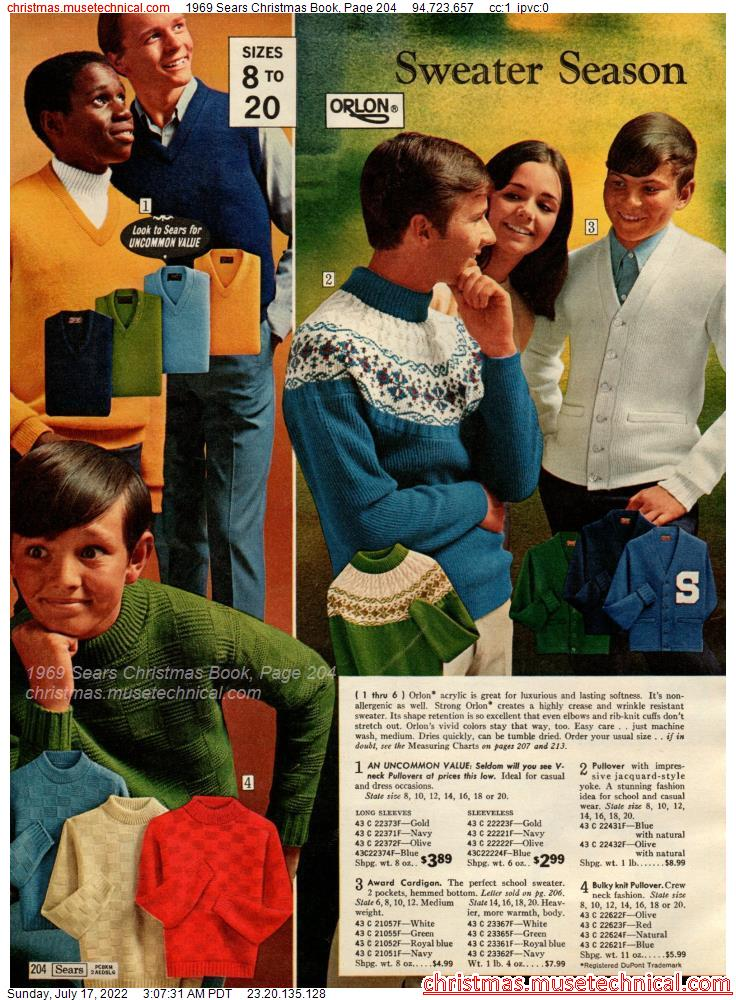 1969 Sears Christmas Book, Page 204