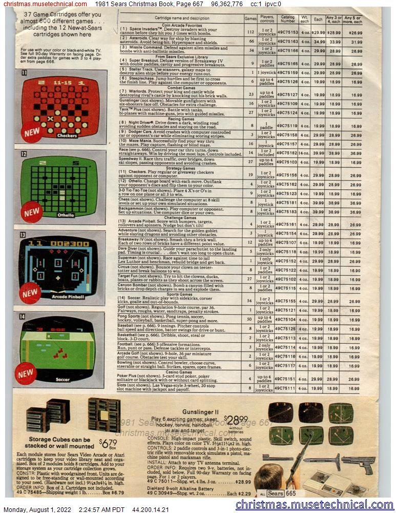 1981 Sears Christmas Book, Page 667