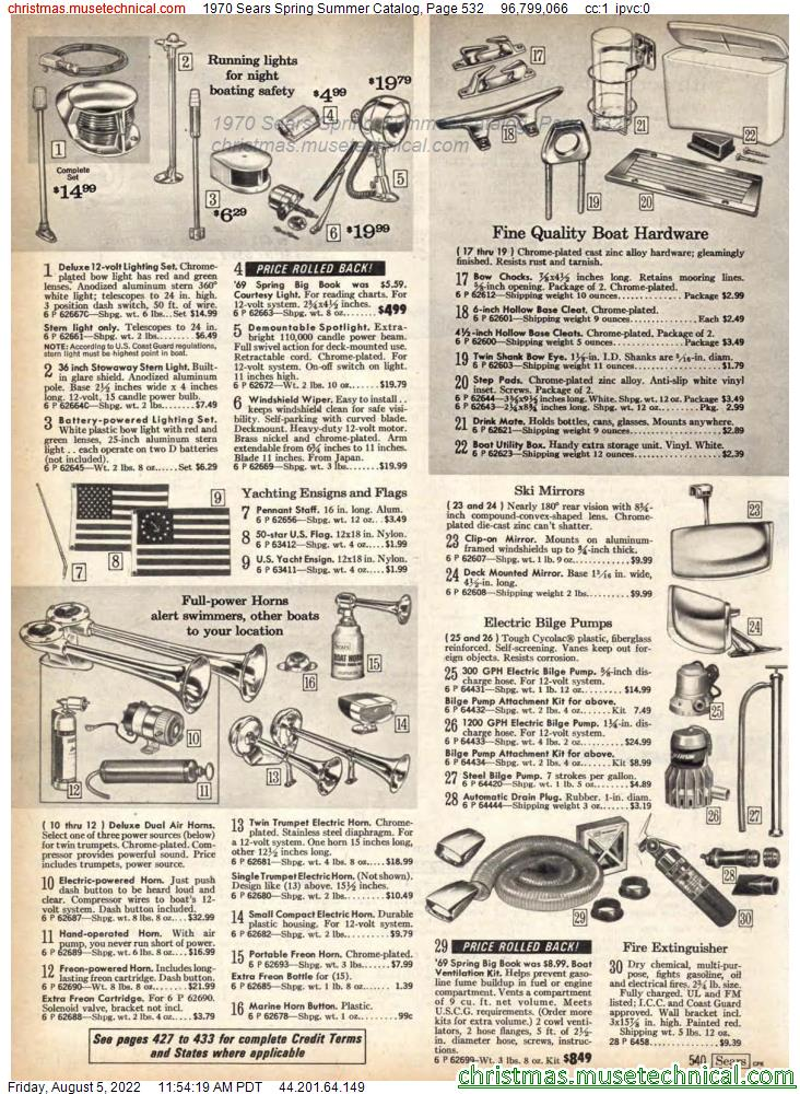 1970 Sears Spring Summer Catalog, Page 532