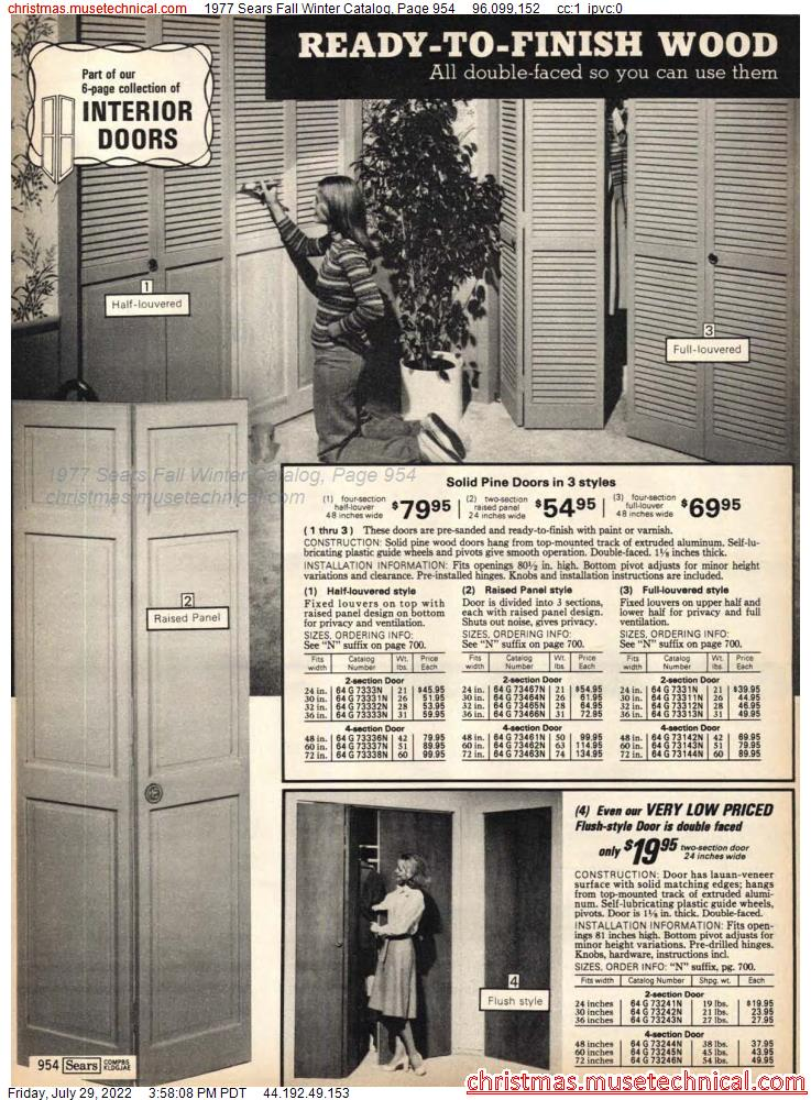 1977 Sears Fall Winter Catalog, Page 954