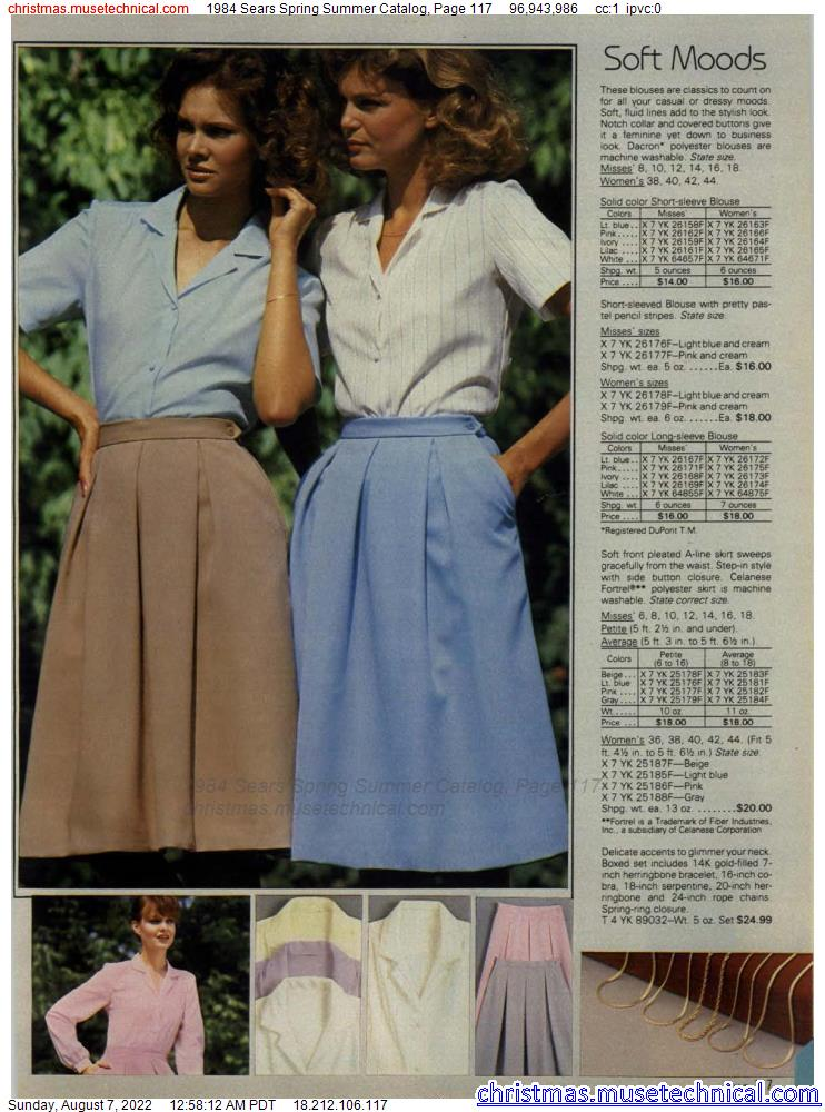 1984 Sears Spring Summer Catalog, Page 117