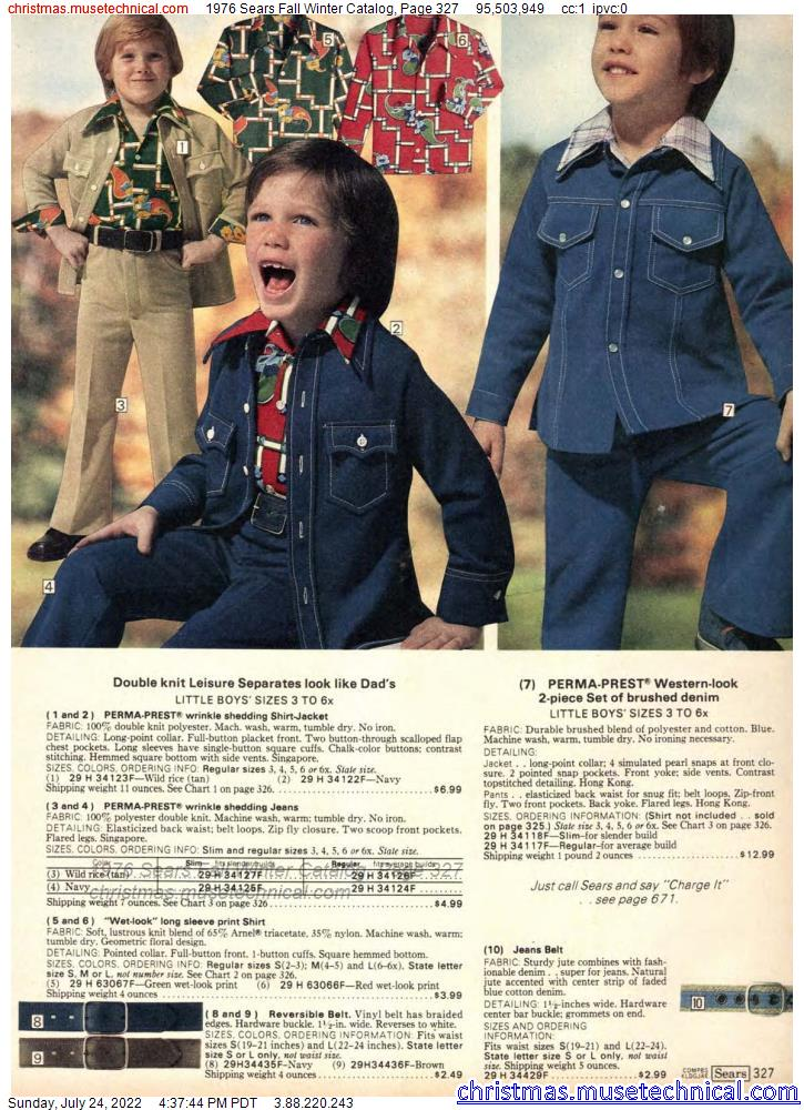 1976 Sears Fall Winter Catalog, Page 327