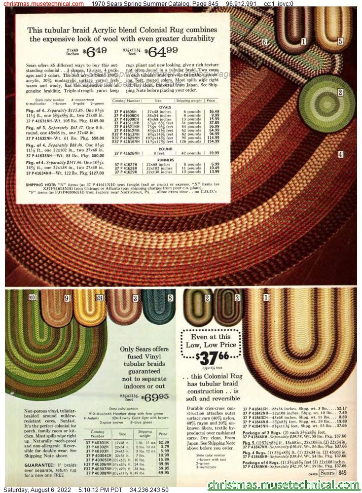 1970 Sears Spring Summer Catalog, Page 845