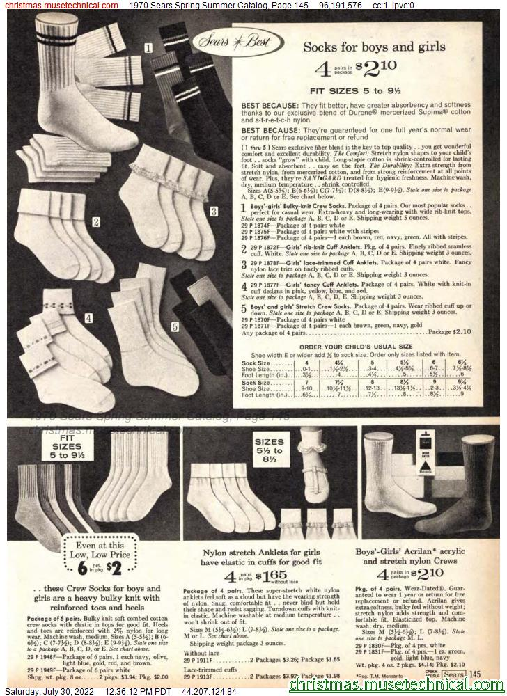 1970 Sears Spring Summer Catalog, Page 145