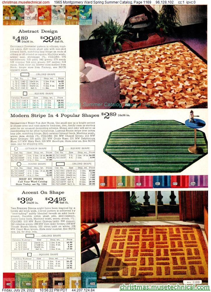 1965 Montgomery Ward Spring Summer Catalog, Page 1169