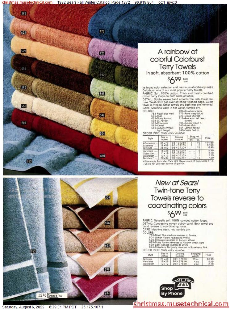 1982 Sears Fall Winter Catalog, Page 1272