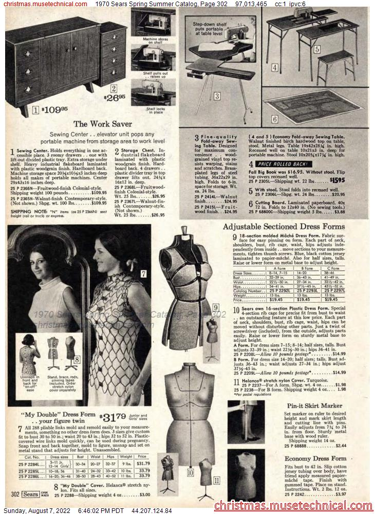 1970 Sears Spring Summer Catalog, Page 302