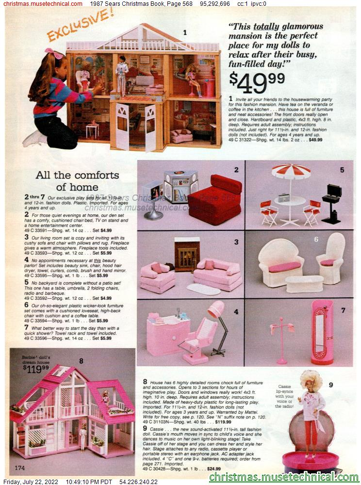 1987 Sears Christmas Book, Page 568
