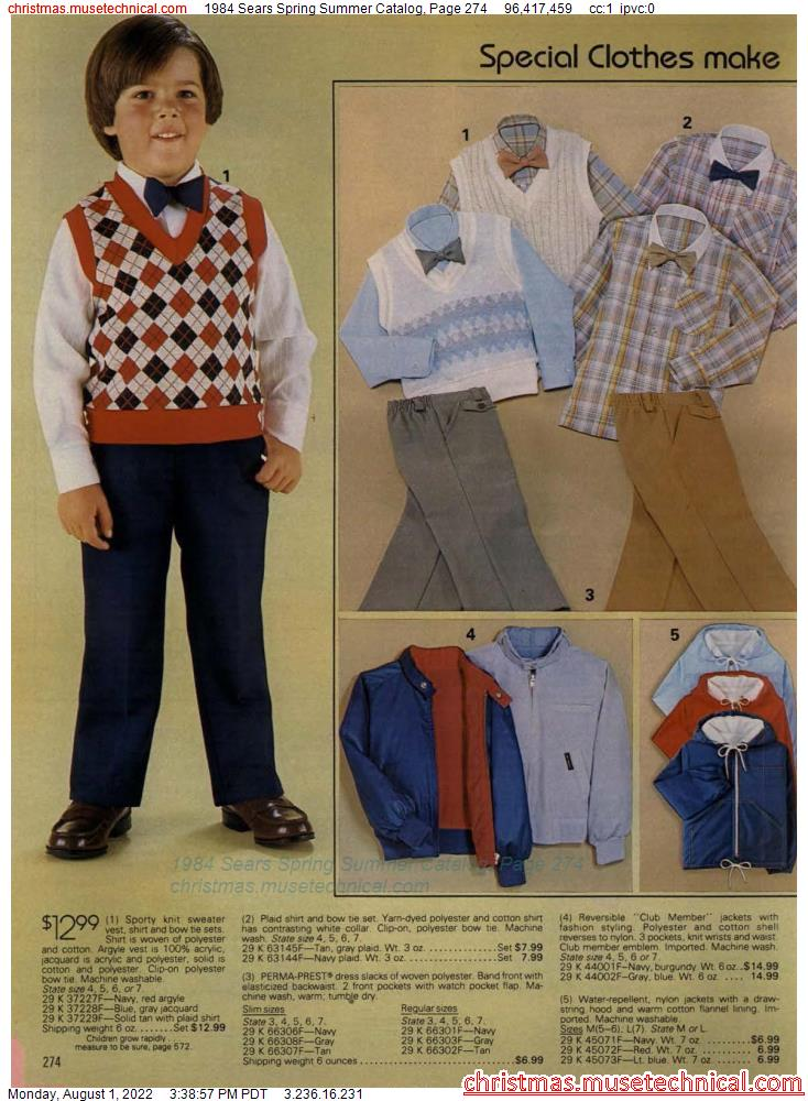 1984 Sears Spring Summer Catalog, Page 274