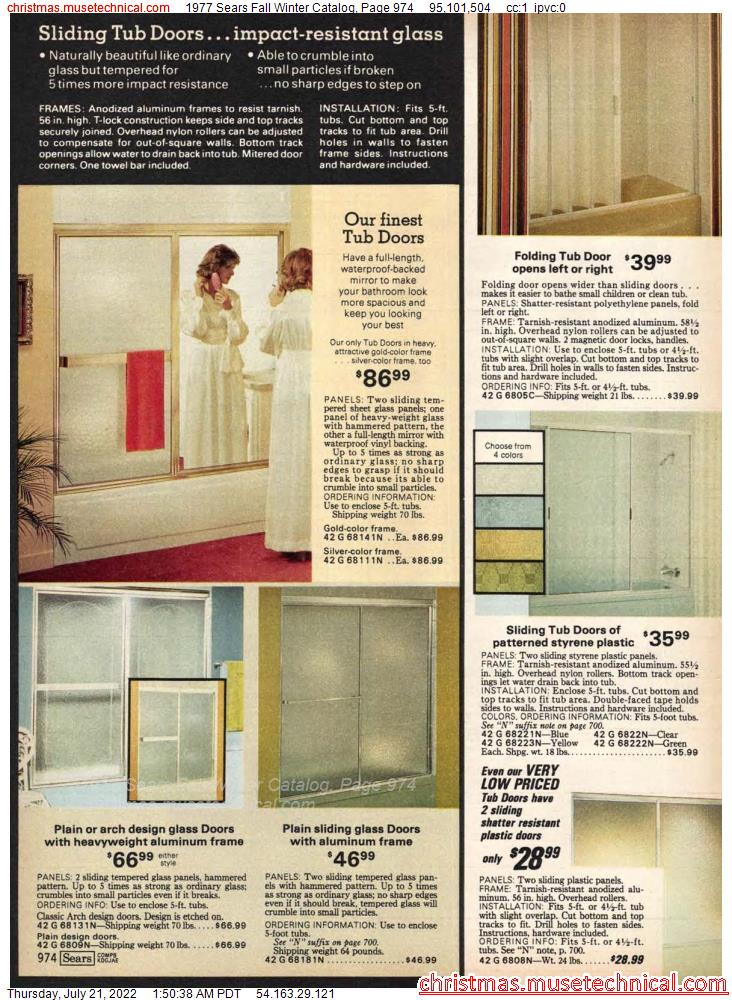 1977 Sears Fall Winter Catalog, Page 974