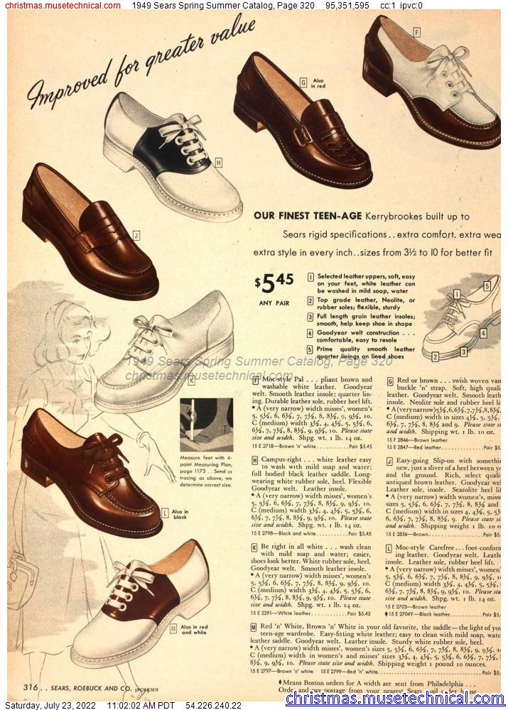 1949 Sears Spring Summer Catalog, Page 320