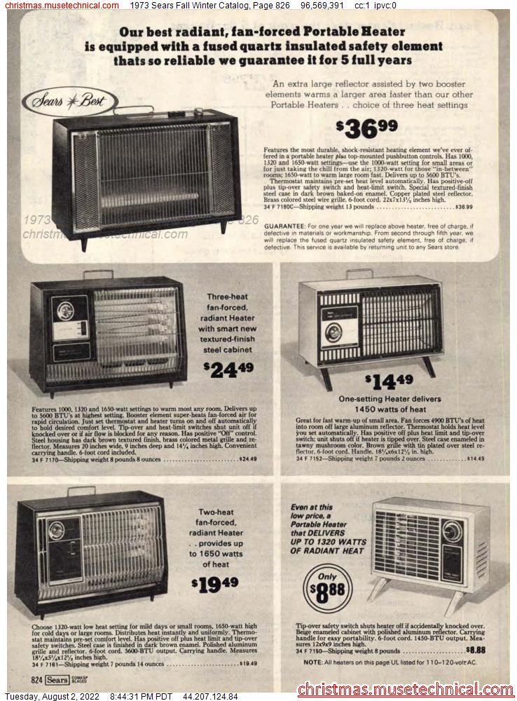 1973 Sears Fall Winter Catalog, Page 826