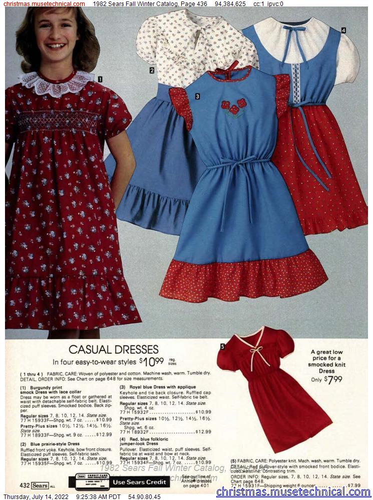1982 Sears Fall Winter Catalog, Page 436