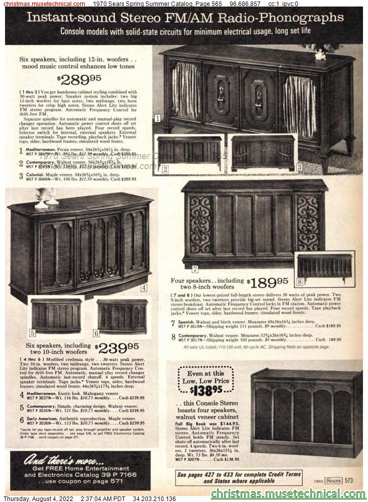 1970 Sears Spring Summer Catalog, Page 565