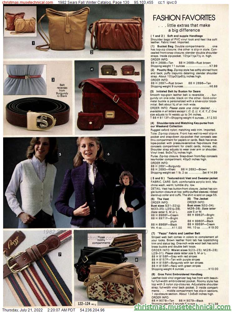 1982 Sears Fall Winter Catalog, Page 130