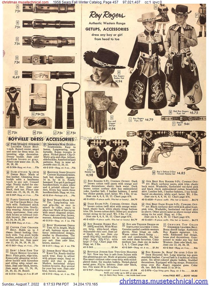 1956 Sears Fall Winter Catalog, Page 457