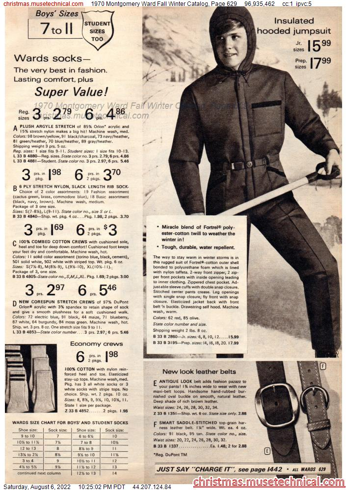 1970 Montgomery Ward Fall Winter Catalog, Page 629