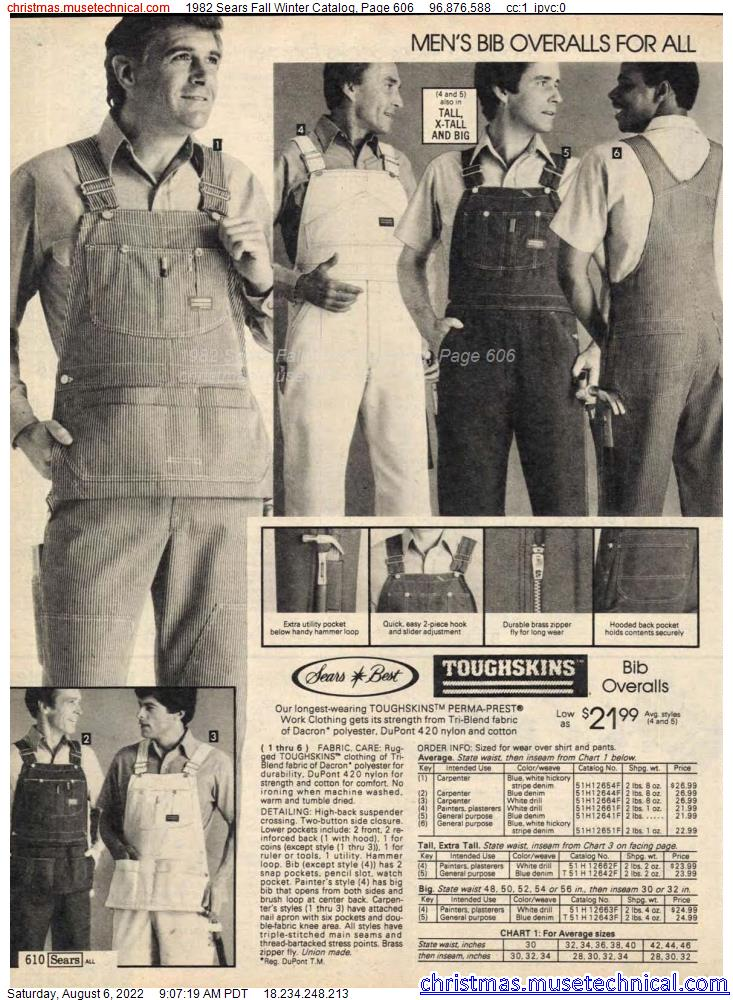 1982 Sears Fall Winter Catalog, Page 606