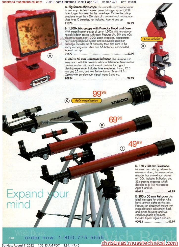 2001 Sears Christmas Book, Page 128