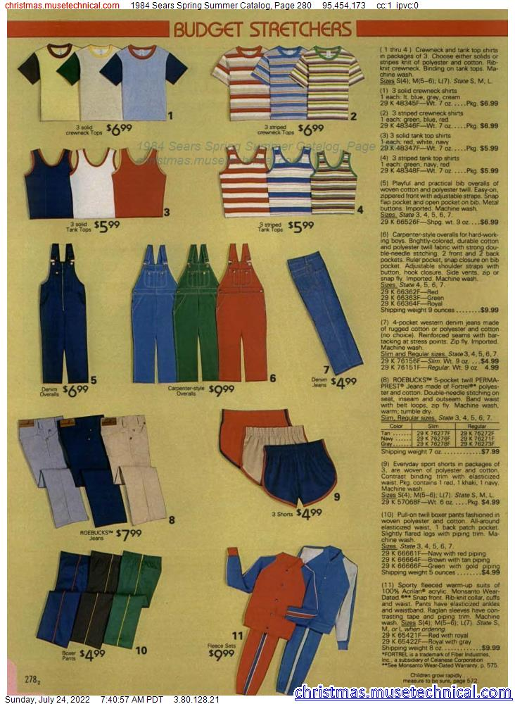 1984 Sears Spring Summer Catalog, Page 280