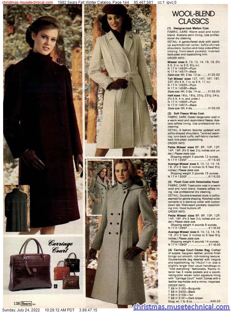 1982 Sears Fall Winter Catalog, Page 144