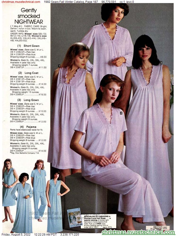 1982 Sears Fall Winter Catalog, Page 187