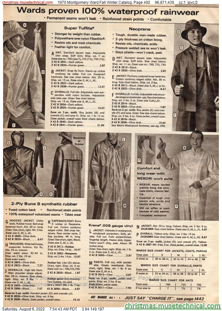 1970 Montgomery Ward Fall Winter Catalog, Page 492