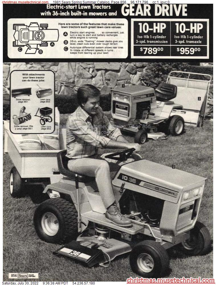 1981 Sears Spring Summer Catalog, Page 856