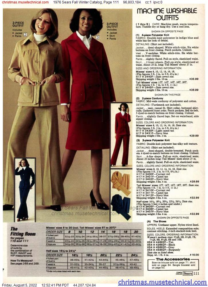 1976 Sears Fall Winter Catalog, Page 111
