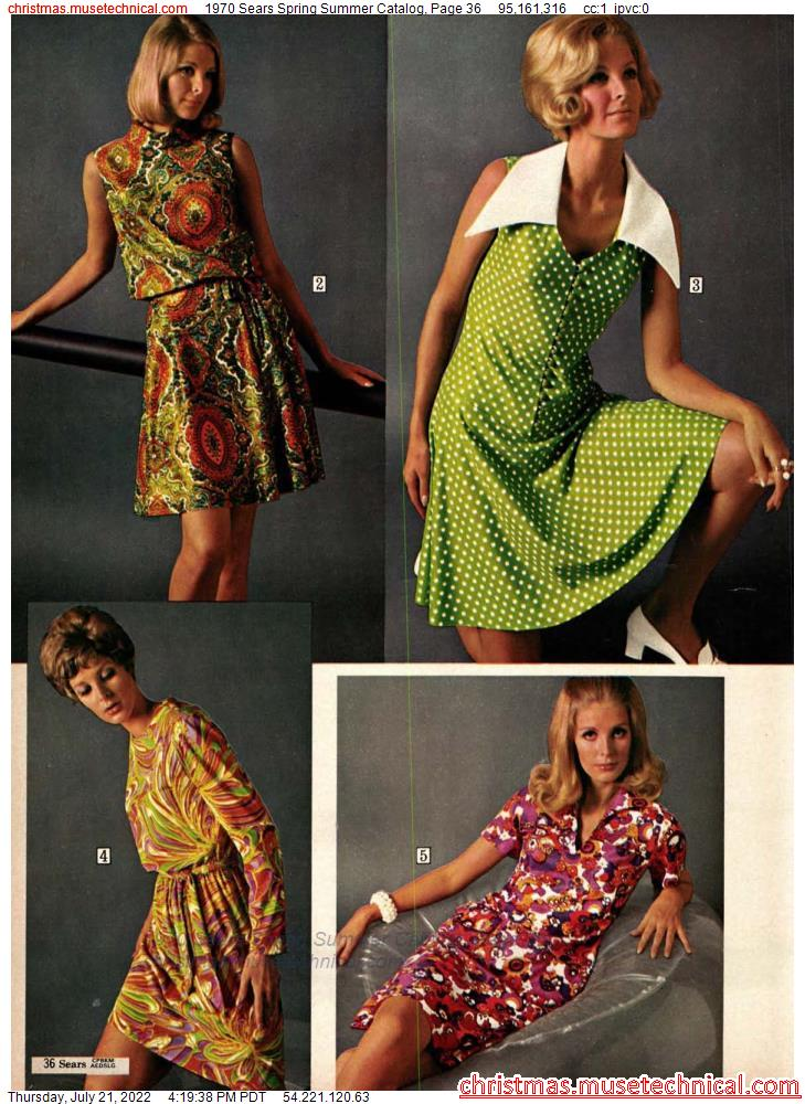 1970 Sears Spring Summer Catalog, Page 36
