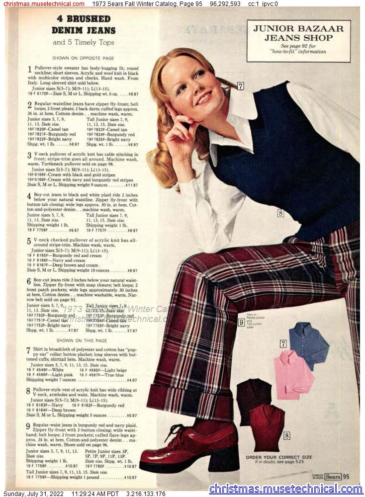 1973 Sears Fall Winter Catalog, Page 95