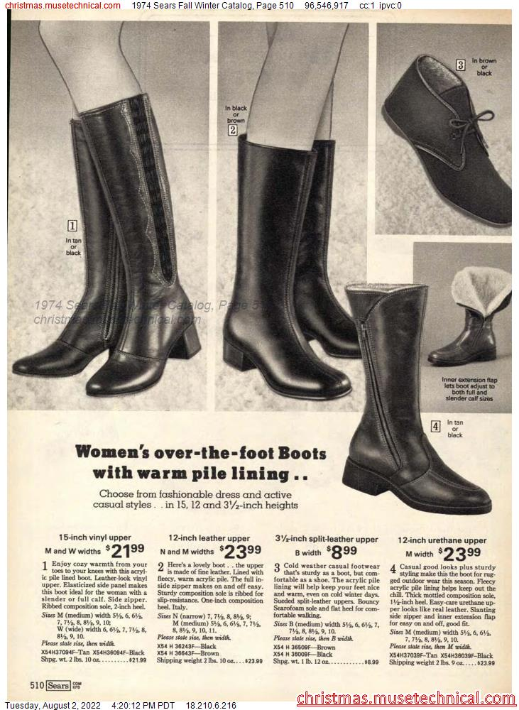 1974 Sears Fall Winter Catalog, Page 510