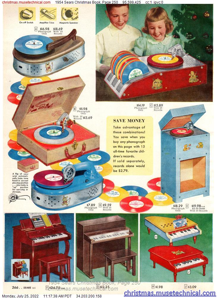 1954 Sears Christmas Book, Page 250