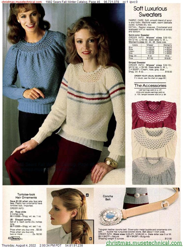 1982 Sears Fall Winter Catalog, Page 46