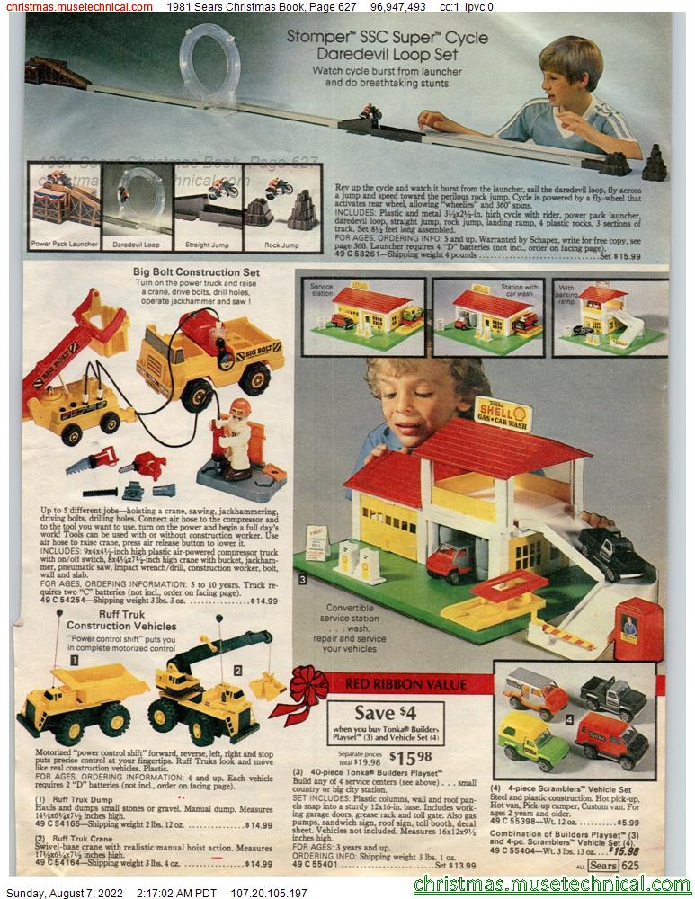 1981 Sears Christmas Book, Page 627