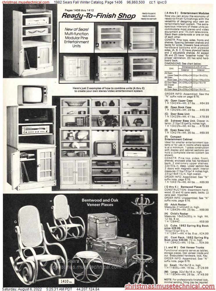 1982 Sears Fall Winter Catalog, Page 1406