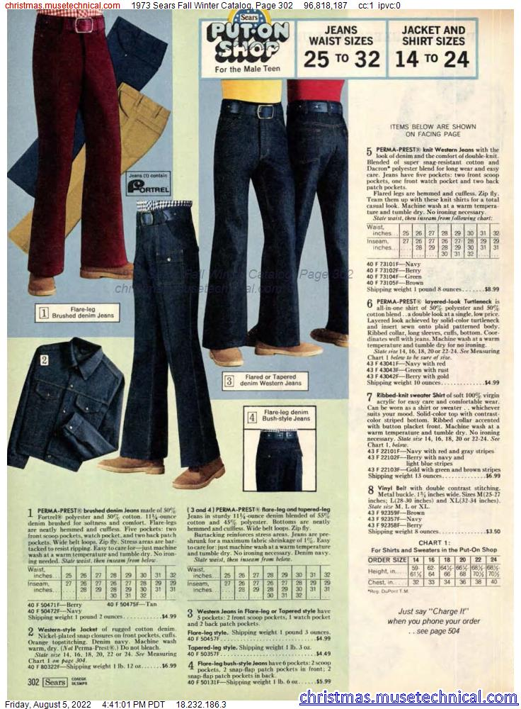 1973 Sears Fall Winter Catalog, Page 302